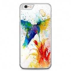 Etui na telefon iPhone 6 / 6s - niebieski koliber watercolor.