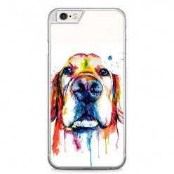 Etui na telefon iPhone 6 / 6s - pies labrador watercolor.