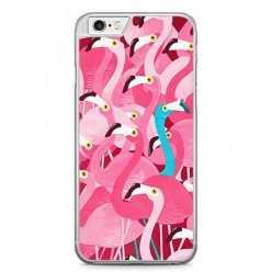 Etui na telefon iPhone 6 / 6s - różowe ptaki flaming.