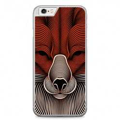 Etui na telefon iPhone 6 / 6s - głowa psa abstract.