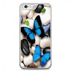 Etui na telefon iPhone 6 / 6s - niebieskie motyle.