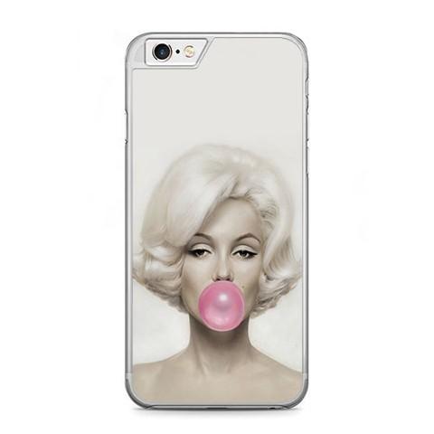 Etui na telefon iPhone 6 / 6s - Merlin Monroe z gumą.