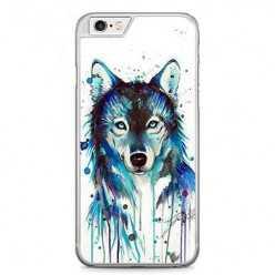 Etui na telefon iPhone 6 / 6s - niebieski wilk watercolor.