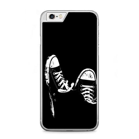 Etui na telefon iPhone 6 Plus / 6s Plus - czarno - białe trampki.
