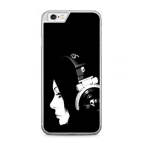 Etui na telefon iPhone 6 Plus / 6s Plus - słuchająca muzyki.