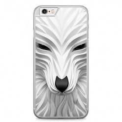Etui na telefon iPhone 6 Plus / 6s Plus - biały wilk 3d.