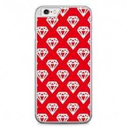 Etui na telefon iPhone 6 Plus / 6s Plus - czerwone diamenty.