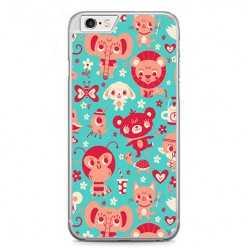Etui na telefon iPhone 6 Plus / 6s Plus - kolorowe zwierzaki.