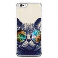 Etui na telefon iPhone 6 Plus / 6s Plus - kot hipster w okularach.