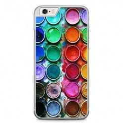 Etui na telefon iPhone 6 Plus / 6s Plus - kolorowe farbki plakatowe.