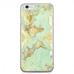 Etui na telefon iPhone 6 Plus / 6s Plus - mapa świata.