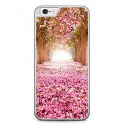 Etui na telefon iPhone 6 Plus / 6s Plus - różowe liście w parku.