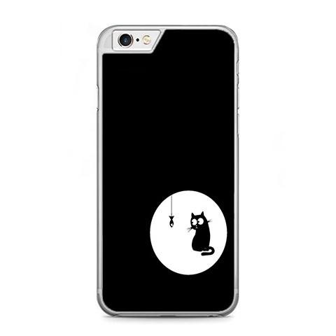 Etui na telefon iPhone 6 Plus / 6s Plus - czarny kotek.