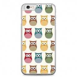 Etui na telefon iPhone 6 Plus / 6s Plus - kolorowe sowy.