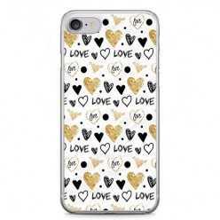 Etui na telefon iPhone 7 - serduszka Love.