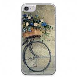Etui na telefon iPhone 7 - rower z kwiatami.