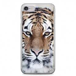 Etui na telefon iPhone 7 - biały tygrys.