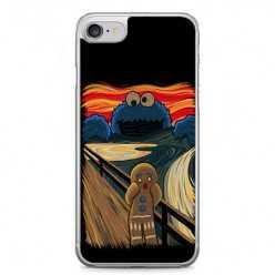 Etui na telefon iPhone 7 - parodia obrazu krzyk.
