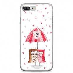 Etui na telefon iPhone 7 Plus - zakochane sowy.