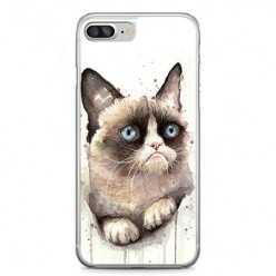 Etui na telefon iPhone 7 Plus - kot zrzęda watercolor.