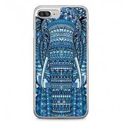 Etui na telefon iPhone 7 Plus - niebieski słoń.