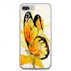 Etui na telefon iPhone 7 Plus - motyl watercolor.