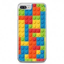 Etui na telefon iPhone 7 Plus - kolorowe klocki.