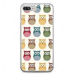 Etui na telefon iPhone 7 Plus - kolorowe sowy.