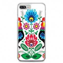 Etui na telefon iPhone 7 Plus - łowickie wzory kwiaty.