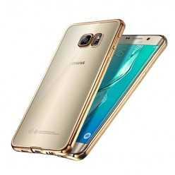 Platynowane etui na Samsung Galaxy S6 silikon SLIM - złoty.