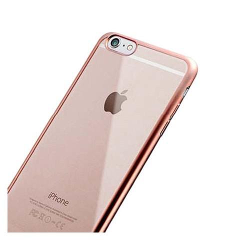 Platynowane etui na iPhone 6 / 6s silikon SLIM - różowy.