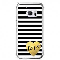 Etui na telefon HTC 10 - złote LOVE.