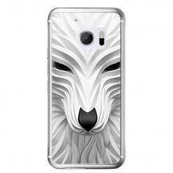 Etui na telefon HTC 10 - biały wilk 3d.