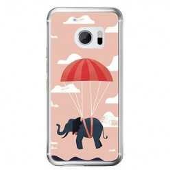 Etui na telefon HTC 10 - słoń na spadochronie.