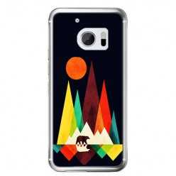 Etui na telefon HTC 10 - zachód słońca, abstract.