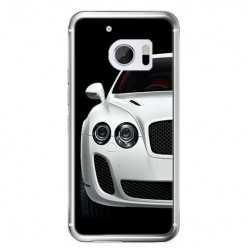 Etui na telefon HTC 10 - biały samochód.