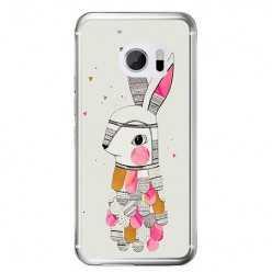 Etui na telefon HTC 10 - kolorowy królik.