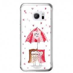 Etui na telefon HTC 10 - zakochane sowy.