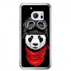 Etui na telefon HTC 10 - panda w czapce.