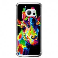 Etui na telefon HTC 10 - kolorowa żyrafa.