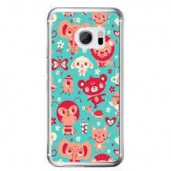 Etui na telefon HTC 10 - kolorowe zwierzaki.