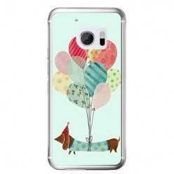 Etui na telefon HTC 10 - pies z balonikami.