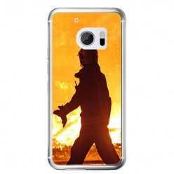 Etui na telefon HTC 10 - strażak w akcji.