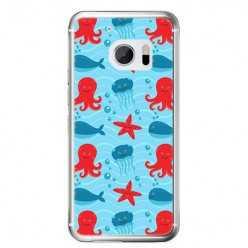 Etui na telefon HTC 10 - morskie zwierzaki.