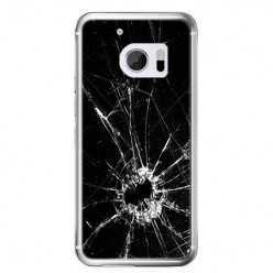 Etui na telefon HTC 10 - czarna rozbita szyba.