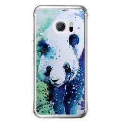 Etui na telefon HTC 10 - miś panda watercolor.