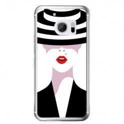 Etui na telefon HTC 10 - kobieta w kapeluszu.
