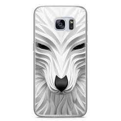 Etui na telefon Samsung Galaxy S7 - biały wilk 3d.