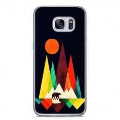 Etui na telefon Samsung Galaxy S7 - zachód słońca, abstract.