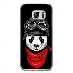 Etui na telefon Samsung Galaxy S7 - panda w czapce.